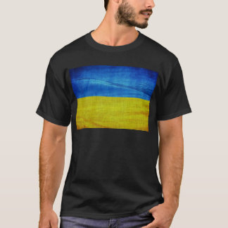Camiseta Bandeira estilizado de Ucrânia