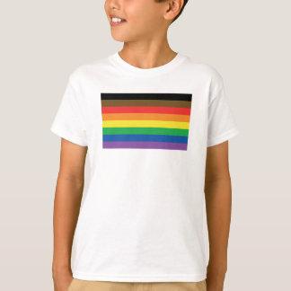 Camiseta Bandeira expandida LGBT customizável do arco-íris
