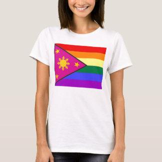 Camiseta Bandeira filipina do orgulho de GLBT