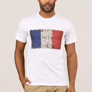 Camiseta Bandeira francesa afligida