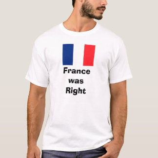 Camiseta Bandeira francesa, FrancewasRight