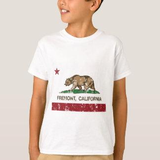 Camiseta bandeira fremont de Califórnia afligido
