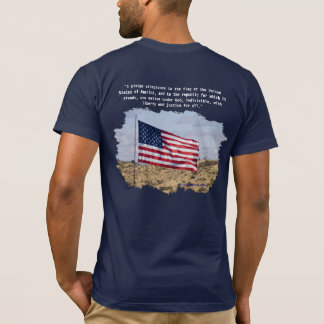 Camiseta Bandeira & garantia dos E.U.