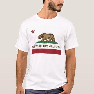 Camiseta bandeira Half Moon Bay de Califórnia