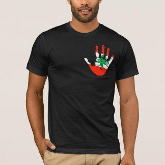 Camiseta Bandeira Handprint de Líbano