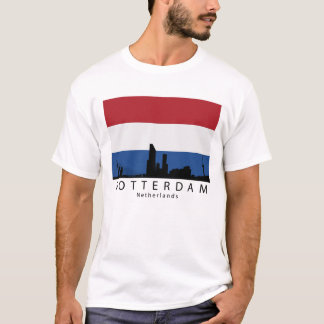 Camiseta Bandeira holandesa do Dutch da skyline de