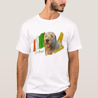 Camiseta Bandeira irlandesa e harpa do Wolfhound irlandês