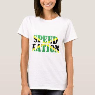 Camiseta Bandeira jamaicana da nação da velocidade