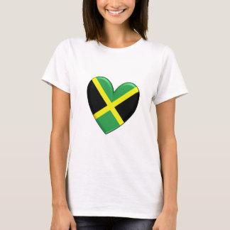 Camiseta Bandeira jamaicana do coração