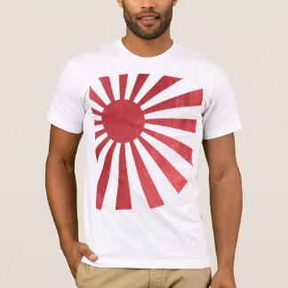 Camiseta Bandeira japonesa de Sun de ascensão (afligida