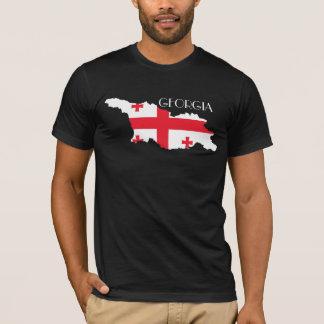 Camiseta Bandeira-Mapa de Geórgia (país)