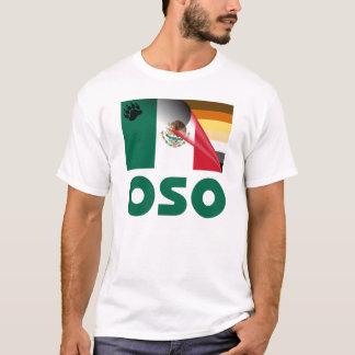 Camiseta Bandeira mexicana Oso do orgulho do urso