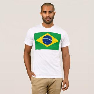 Camiseta Bandeira nacional de Brasil, cor exata da