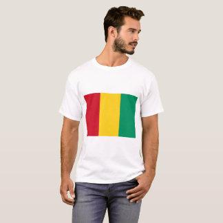 Camiseta Bandeira nacional do mundo da Guiné