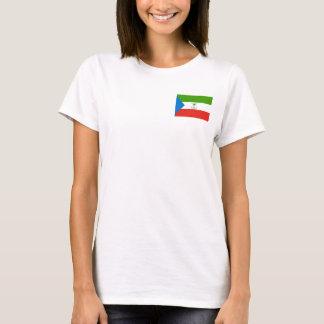 Camiseta Bandeira nacional do mundo da Guiné Equatorial