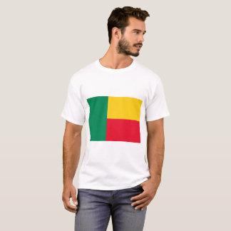 Camiseta Bandeira nacional do mundo de Benin