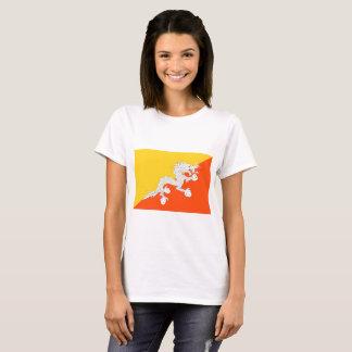 Camiseta Bandeira nacional do mundo de Bhutan