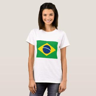 Camiseta Bandeira nacional do mundo de Brasil