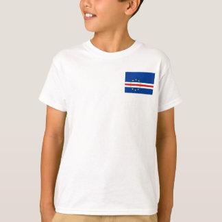 Camiseta Bandeira nacional do mundo de Cabo Verde