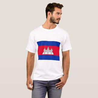 Camiseta Bandeira nacional do mundo de Cambodia