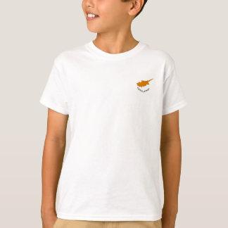 Camiseta Bandeira nacional do mundo de Chipre