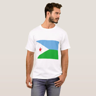 Camiseta Bandeira nacional do mundo de Djibouti
