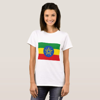 Camiseta Bandeira nacional do mundo de Etiópia