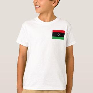 Camiseta Bandeira nacional do mundo de Líbia