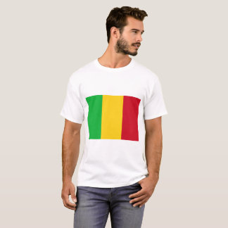 Camiseta Bandeira nacional do mundo de Mali