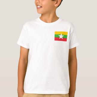 Camiseta Bandeira nacional do mundo de Myanmar