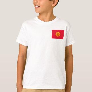 Camiseta Bandeira nacional do mundo de Quirguistão