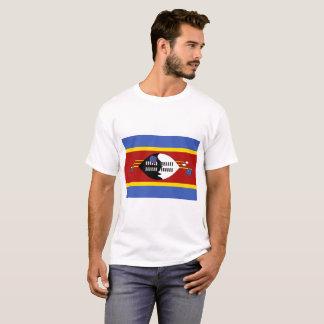 Camiseta Bandeira nacional do mundo de Suazilândia