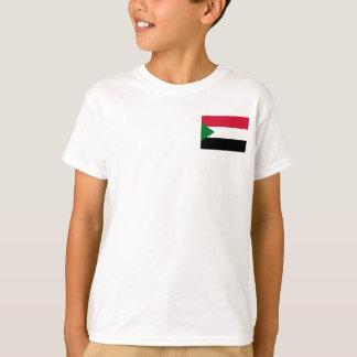 Camiseta Bandeira nacional do mundo de Sudão