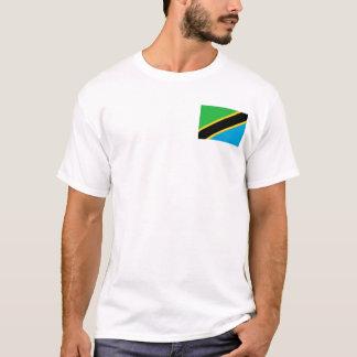 Camiseta Bandeira nacional do mundo de Tanzânia