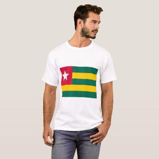 Camiseta Bandeira nacional do mundo de Togo