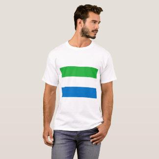 Camiseta Bandeira nacional do mundo do Sierra Leone