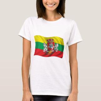 Camiseta Bandeira ondulada de Lithuania