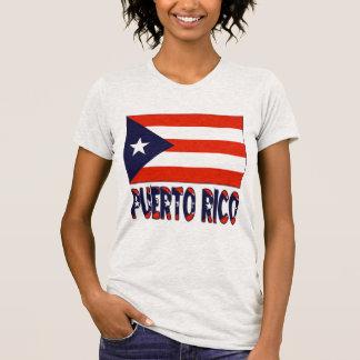 Camiseta Bandeira & palavra de Puerto Rico