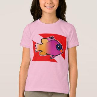 Camiseta Bandeira real do mergulho de Gramma