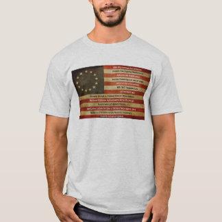 Camiseta Bandeira resistida por violações da constituição