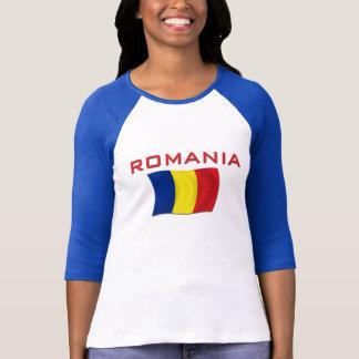 Camiseta Bandeira romena (vermelha)