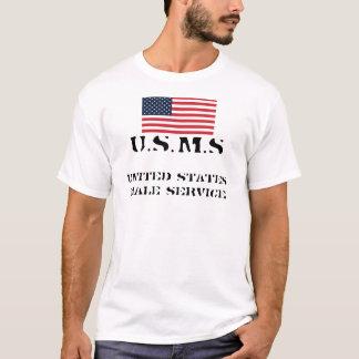 Camiseta bandeira, serviço masculino dos Estados Unidos,