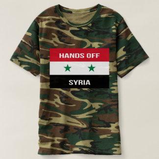 Camiseta Bandeira síria - mãos fora de Syria.  Apoio para