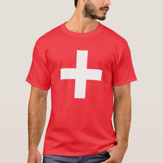Camiseta bandeira suíça