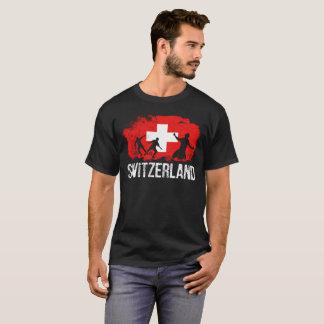 Camiseta Bandeira suíça do jogador de futebol da suiça
