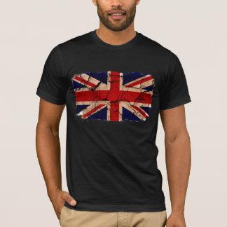Camiseta Bandeira suja do Reino Unido do vintage