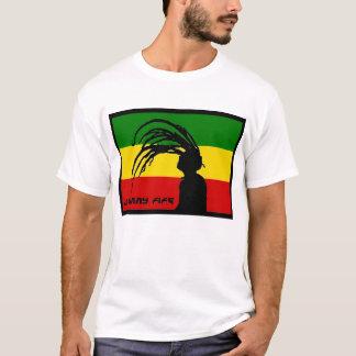 Camiseta bandeira t do pífano de johnny do rasta
