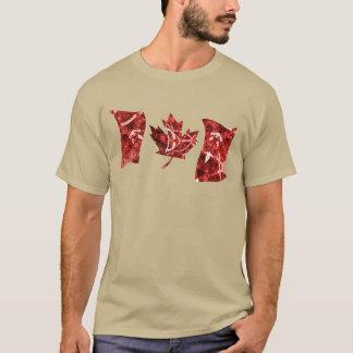 Camiseta Bandeira vermelha e branca de Canadá do abstrato