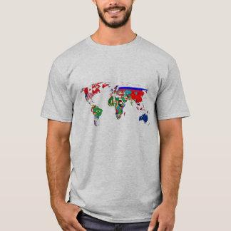 Camiseta Bandeiras do mundo