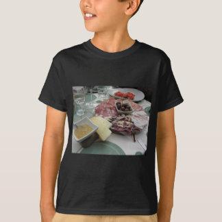 Camiseta Bandeja de cortes frios com o prosciutto rústico